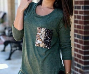 glitter, outfit, and green image
