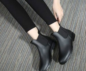 ankle boots, black, and black shoes image