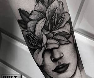 art, ink, and flowers image