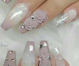 3d, flowers, and nails image