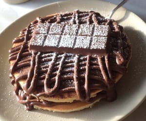 choccolate, pancake, and kinder image
