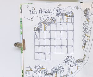 calendar, doodles, and drawing image