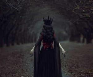 dark, Queen, and black image