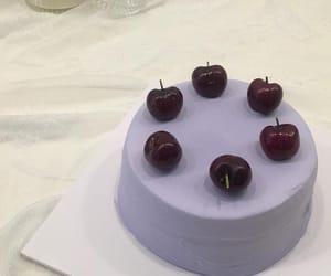 cake, cherry, and food image