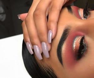 beauty, glitter, and eye make up image