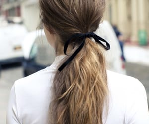 brown, perfect hair, and pony tail image