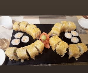delicious food, maki, and sushi image