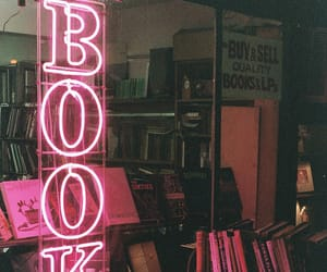book, pink, and neon image