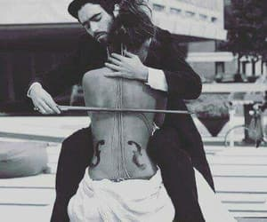 black and white, cello, and intimate image