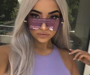 glasses and purple image