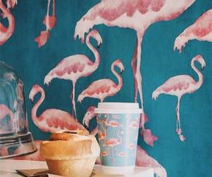 flamingo, animals, and breakfast image