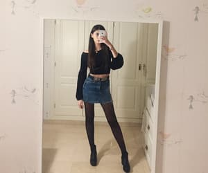 ankle boots, black, and brunette image