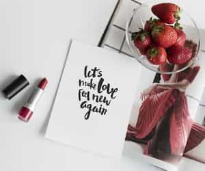 food, lipstick, and red image