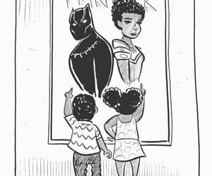 black panther, illustration, and lupita image