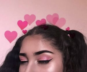 aesthetic, pink, and hearts image