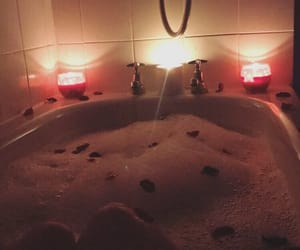 aesthetic, bubble bath, and candles image