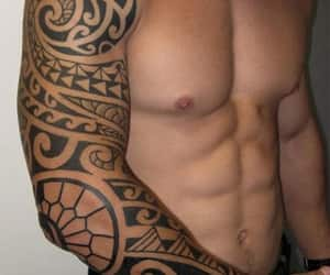 arm, Maori, and tattoo image
