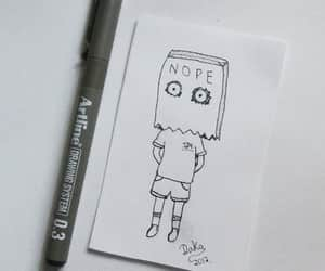 boy, draw, and doodle image