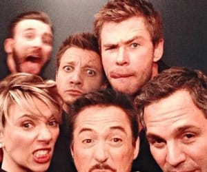 Avengers, chris evans, and chris hemsworth image