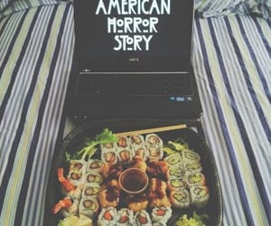 sushi, food, and american horror story image