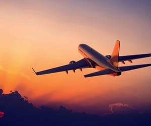 Flying and traveling image