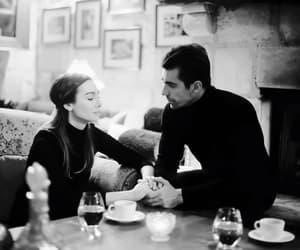 İbrahim Çelikkol, birce akalay, and siyah beyaz ask image