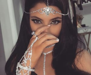 jewelry, long hair, and nails image