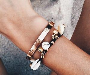 bracelet, gold, and summer image