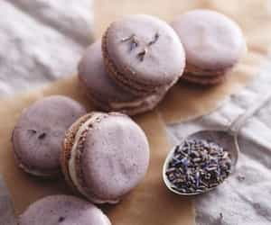 macaroons, food, and lavender image