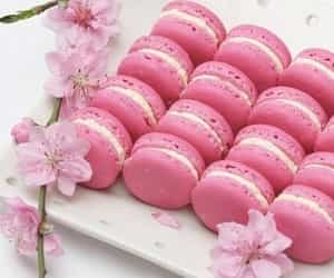 sweets and french macaroons image