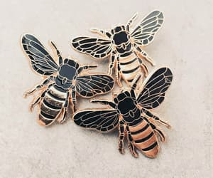 bees, gold, and fashion image