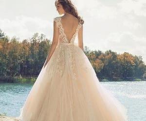 evening dress, fashion, and prom dress image