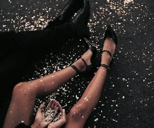 couple, black, and glitter image