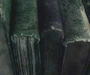 slytherin, books, and harry potter image