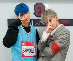 blue hair, swag boy, and yg trainee image