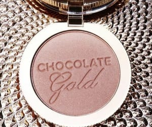 makeup, beauty, and chocolate gold image