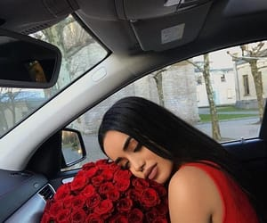 rose, girl, and car image
