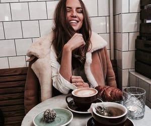 fashion, girl, and coffee image