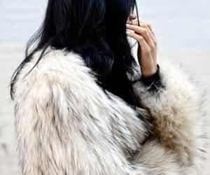 fashion, girl, and fur image