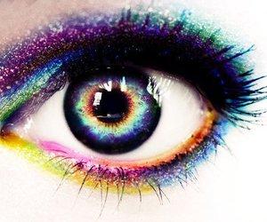 eye, colorful, and eyes image