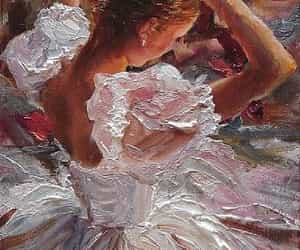 painting, art, and ballerina image