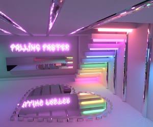 neon, purple, and rainbow image