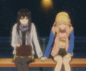 anime, gif, and yuri image