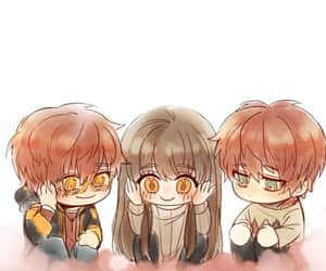 chibi, unknown, and 707 image