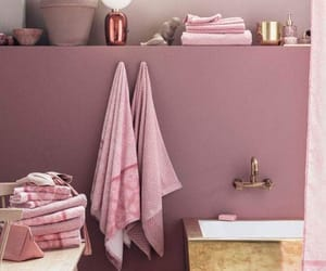 bathroom, girly, and gold image