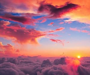 pink, amazing view, and sky image