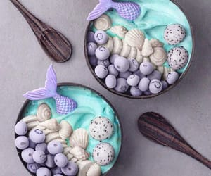 mermaid, delicious, and food image
