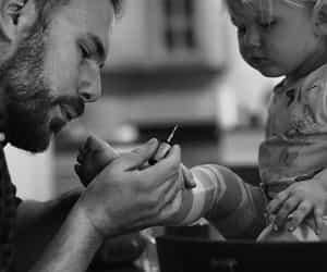 cute, dad, and baby image