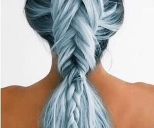 blue, hair, and silvery image
