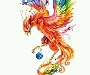 art, drawing, and phoenix image